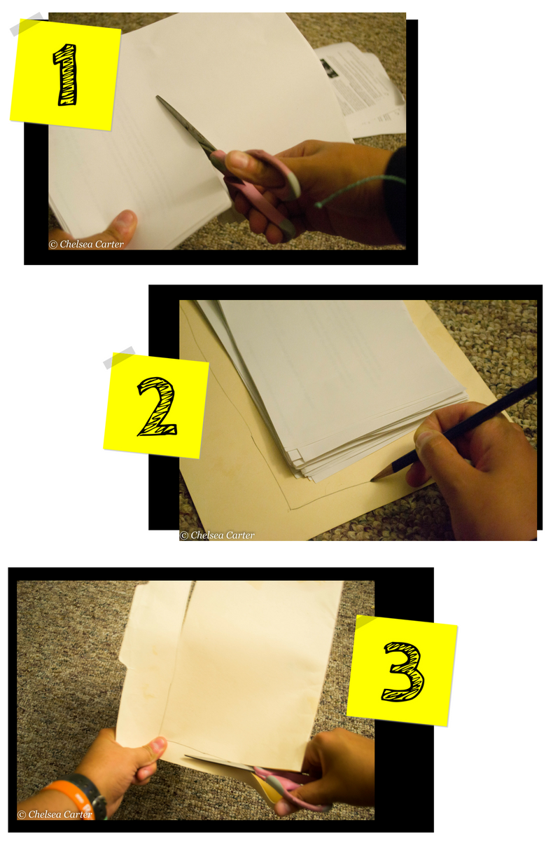 DIY: Make Your Own Recycled Journal In 9 Easy Steps 1-3