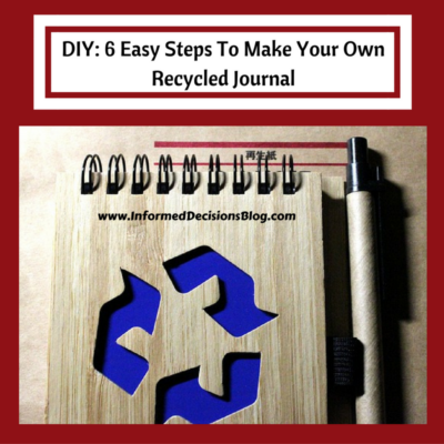 DIY: 6 Easy Steps To Make Your Own Recycled Journal