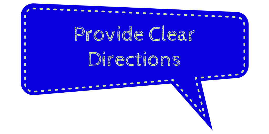 provide-clear-directions