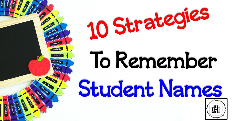 Remembering Student Names