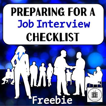 Preparing for a Job Interview Checklist: Freebie